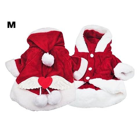DcolorChien Costumes Noel Ange Aile Chien Veste costume de Pere