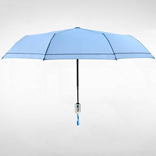 Sunsan Eine Antilope Sonderverkauf, voll automatische Regenschirm, eine einfache Blaue Sonnenschutz...