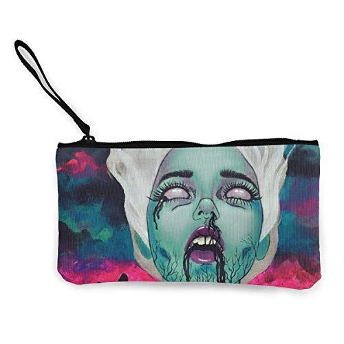 Unisex-Geldbörse, Galaxy Goth Gotik Gothic Women Girl Womens Canvas Geldbörse Mini Change Wallet...
