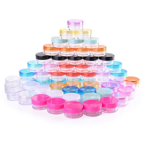 Scopri offerta per 60 Pezzi Contenitori Cosmetici 5g Vasetti Barattolo di Plastica Vuoto Contenitore Cosmetico 12 Colori per Creme Campione Make-up