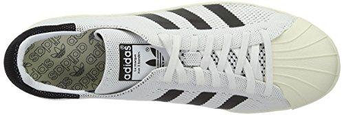 Bianca Nero Primek Adidas Superstar rete Bianco 80s Uomo Scarpe zFURw0
