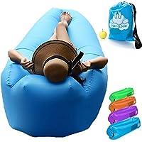 Cosy Cloud Sofá-cama inflable, impermeable, con almohada integrada, no requiere bomba