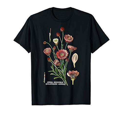 Xeranthemum Annuum Annual Immortelle Botanical Flower art T-Shirt