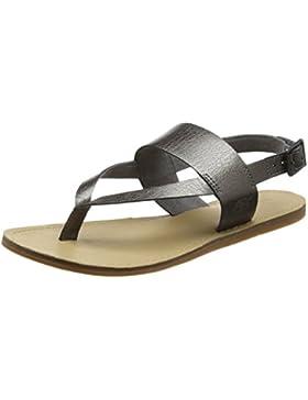 Timberland Damen Carolista Ankle Thonggunmetal Metallic Knöchelriemchen