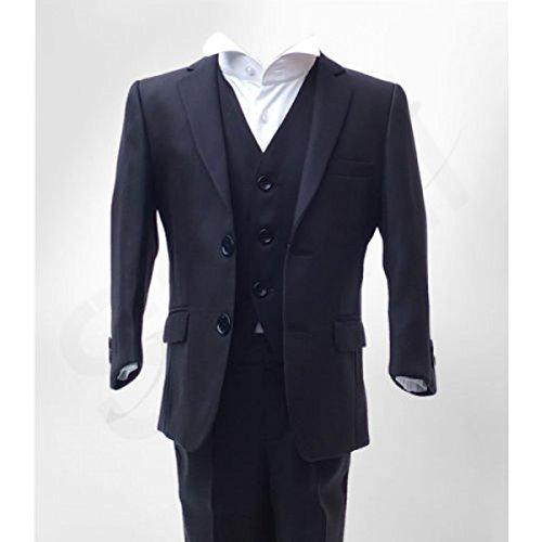 Jungen Formale 3 Stück Hochzeit Anzug im Marine Alter 6 Monat nach 15 Jahre, Knder Marine Kleider (Streifen Schwarz Anzug Trennt)