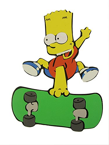 the-simpsons-bart-on-skateboard-fun-tastic-foam-wall-sticker