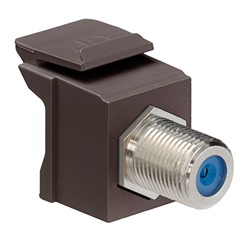 Snap In F Connector Brown Leviton-snap-in