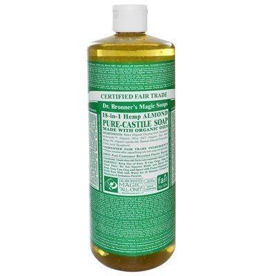 Dr. Bronner's Organic Pure Castile Liquid Soap Hemp Almond - 32 fl oz Dr. Bronner's Organic Pure Ca by Dr. Bronner's -