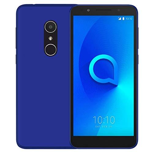 TBOC® Blau Gel TPU Hülle für Alcatel 1C 5009D (5.3 Zoll) Ultradünn Flexibel Silikonhülle [Nicht Kompatibel mit [Alcatel 1] [Alcatel 1X]]