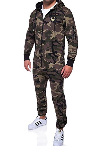 MT Styles Jumpsuit ARMY Camouflage Overall Trainingsanzug R-5105