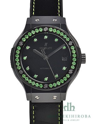 Hublot Classic Fusion shiny ceramic green 565.CX.1210.VR.1222 Unisex Watch