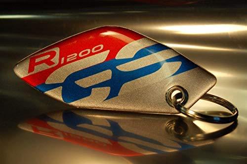 Portachiavi Mod_014 Resin 3d Per Bmw Gs R 1200 Rosso-blu-finitura Metallizzata