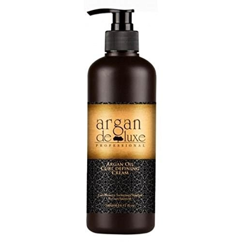 Argan DeLuxe Aceite de Argan Curling y Crema para la definición de rizos, 240ml, Cuidado del cabello Premium