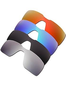 Hkuco Plus Mens Replacement Lenses For Oakley Probation Red/Blue/Black/Titanium Sunglasses