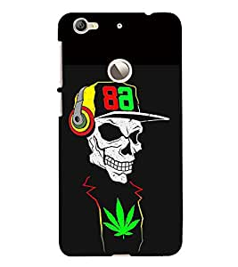 Fabcase Skull Weed Music Addicter Designer Back Case Cover for LeEco Le 1s ECO