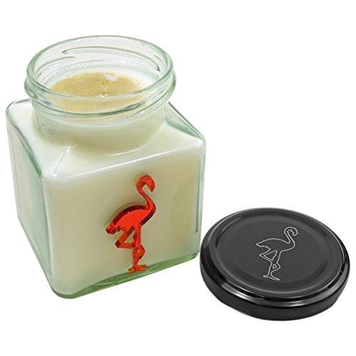 Flamingo Candles-Vela Jengibre Navidad Flamingo, Color Blanco