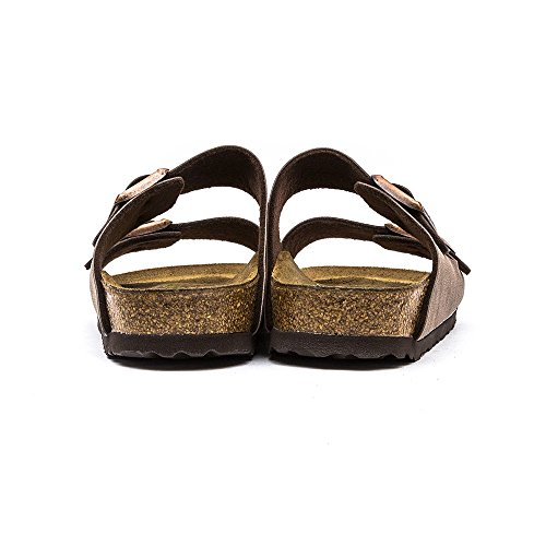 Birkenstock Classic Arizona Birko-Flor Unisex-Erwachsene Pantoletten Mittelbraun