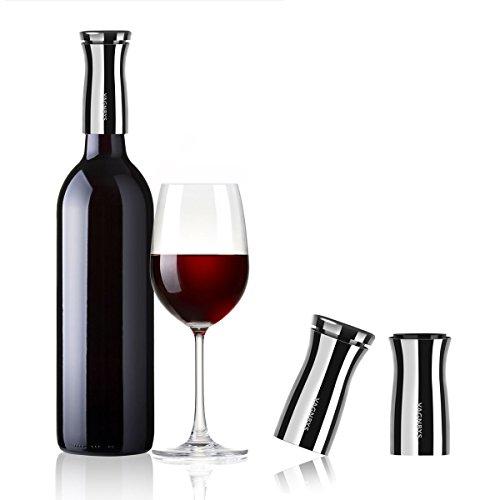 VAGNBYS Wine Decantiere, 7-in-1 Aerator, Wein-Ausgießer, Edelstahl, silber | VA-409115