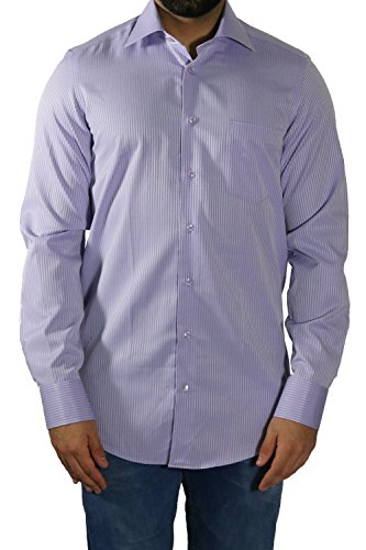 MUGA Homme Chemise à manches extra longues Lila clair