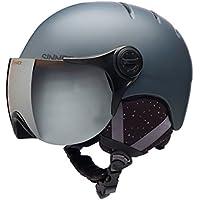 Sinner adultos Crystal in-mold Casco de esquí/snowboard casco con visera, Matte, otoño/invierno, unisex, color Gris - Matte dark grey, tamaño extra-small