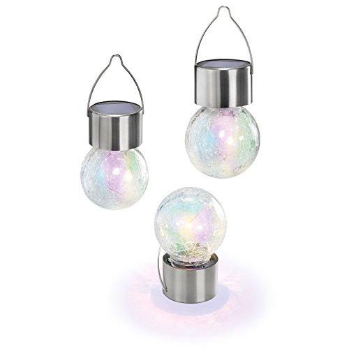 Solarleuchte LED Hängeleuchten Color Ball 3er Set mit 4 LED\'s, 102305