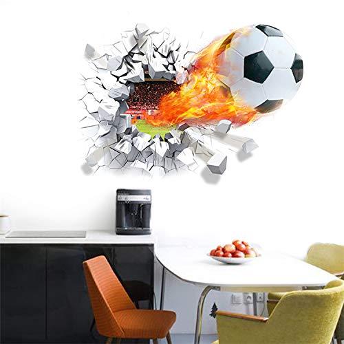 taoyuemaoyi Wall Sticker Sport Design Macy C Ronnemar Étudiant Dortoir Autocollant Football Créatif Barcelone Véritable Étoile Papier Peint Auto-adhésif 70 * 50CM 7