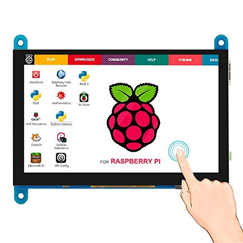 Elecrow Display 7 Zoll TFT LCD HDMI USB Capacitive Touch Screen Monitor 1024 * 600 für Raspberry Pi 3 B+ 2B B/BB Black/PC/Various Systems