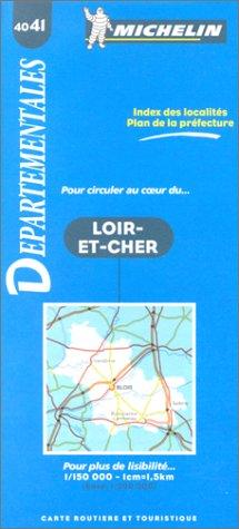 Carte routière : Loir-et-Cher, 4041, 1/150000
