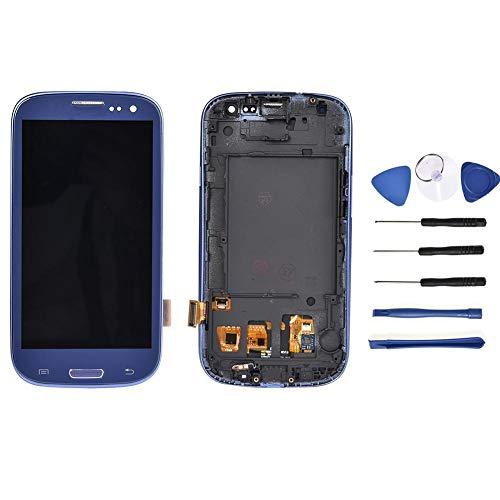 AIHIL LCD Display für Samsung Galaxy s3 i9300 i9305 Rahmen Ersatz Bildschirm mit Reparaturset Werkzeuge Touchscreen Bildschirm Digitizer (saphirblau) (I9300 Lcd-bildschirm-ersatz)