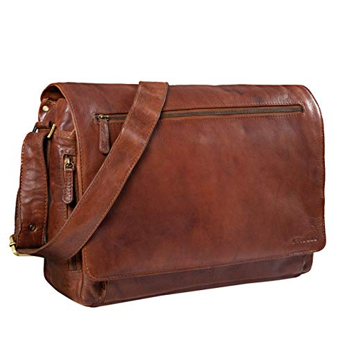 grande vendita 3deca 3119b STILORD 'Jan' Borsa per Computer in Pelle Messenger per PC a ...