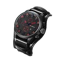 Anself CURREN 8225 Quartz Fashion Watch Man Watch Top Brand Calendar Leather Strap Business Military Dual Display 30M Waterproof Wrist Watch