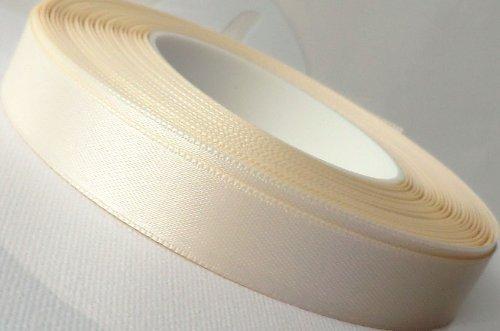 SATINBAND 25m x 15mm ELFENBEIN - CREME ivory Schleifenband Geschenkband DEKOBAND