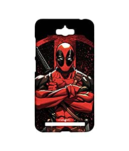 Deadpool Stance Phone Cover for Asus Zenfone Max by Block Print Company