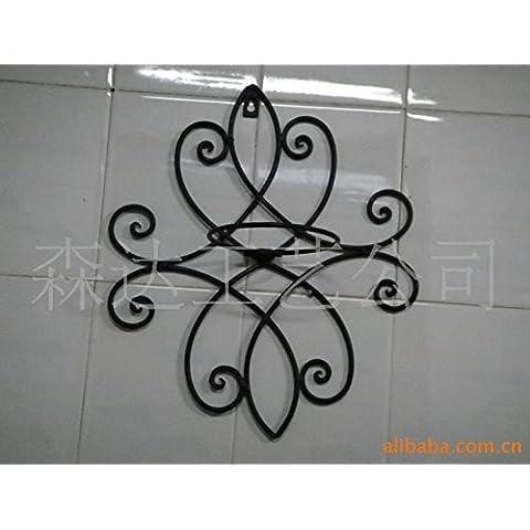 Ferro battuto Rack per montaggio a parete in ferro battuto decorazioni di metallo sulla parete (Stand Livello Ferro Battuto Impianti)
