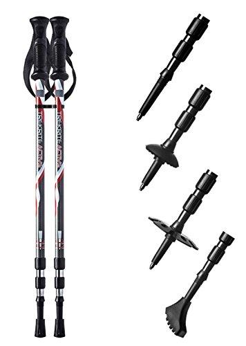 41JEedUDHqL - Pair of Trekrite Active Antishock Power Walking Poles/Hiking Sticks UK Brand