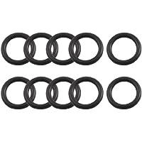 10 Stück 8mm x 1,8mm Flexible Gummiöldichtung O Ring Dichtung Schwarz