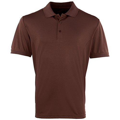 Premier Herren Coolchecker Pique Kurzarm Polo T-Shirt Erdbeerrot