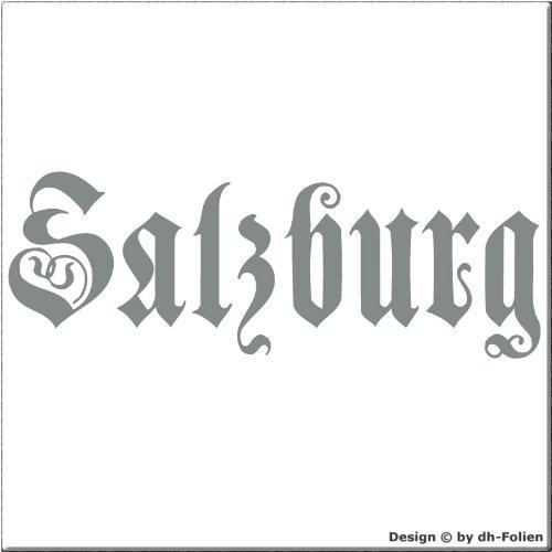 cartattoo4you AK-00546 | SALZBURG - Fraktur / Altdeutsche Schrift | Autoaufkleber Aufkleber FARBE...