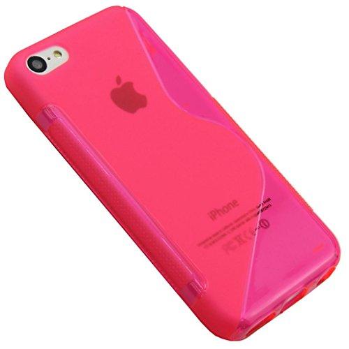Apple iPhone 5C Hot Pink Silikon Gel S Line von G4GADGET  Grip Schutzhülle für Apple iPhone 5C