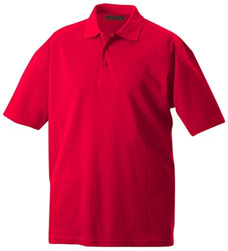 James & Nicholson Herren Poloshirt Function Polo Rot (Red)