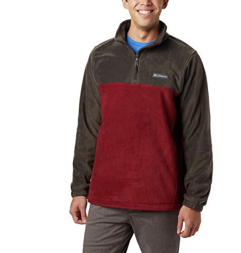 Columbia Herren Steens Mountain Half Zip Fleecejacke, Buffalo, roter Jaspis, 5X Hoch -