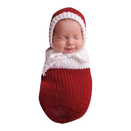 Fußsack für Kinder, Kleidung, Fotostudio, für Babys, handgewebte Kleidung, Fotografie für Babys Rot ()