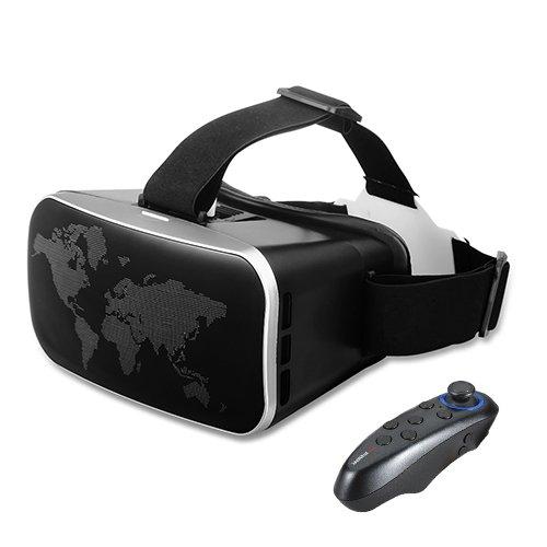 Buykuk, 3D-VR-Brille, Headset für Virtuelle Realität, verstellbare Linse und Gurt für 3,5 - 6 Zoll (8,9-15,2cm) große Smartphones wie iphone5,5S, 6S, 6Plus, Samsung S6,S7Edge, Note 5,6,7, für 3D-Filme und -Spiele