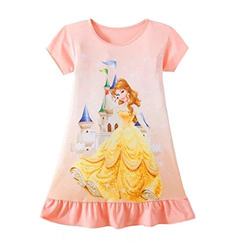 Girls Disney Princess Character Nightie Nightgown Pyjamas Nightdress 90%  Cotton (Belle Beauty and The Beast 19d99b8ac