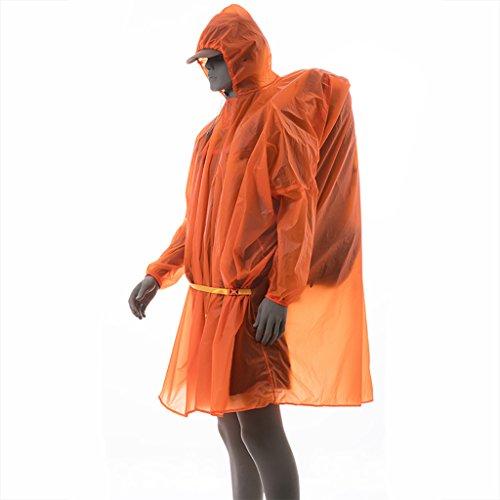 Imperméable Imperméable Poncho Ultralight Super étanche 5000 + 15D Enduit de Silicium Multipurpose Hommes Femmes Randonneurs Pêche Camping Escalade Tourisme Extérieure Tissu de Sol Canopy