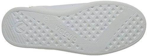 Victoria Deportivo Basket Piel, Scarpe da ginnastica Unisex - Adulto Blanc (Blanc/Noir 10)