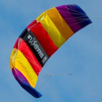 Lenkmatte - SMASHX 1.8 FUN - Kite für leichten bis kräftigen Wind - inkl. Steuerleinen mit Winder und Schlaufen