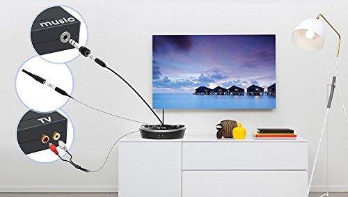TV Funk Kopfhörer, Jelly Comb Funkkopfhörer mit Lautstärke-Regler, Multifunktions-Ladestation für TV und alle Ihre Multimedia-Gerät - 6