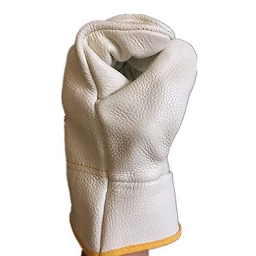 eraturen beständige Handschuhe, flüssige Stickstoffhandschuhe, Frostschutzhandschuhe, industrielle Handschuhe, Leder, lang ()