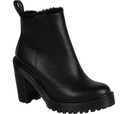 Dr.Martens Womens Magdalena Fur Linned Leather Boots Black
